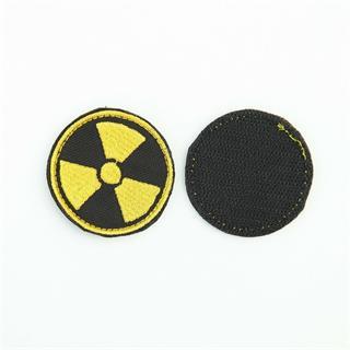 Шеврон KE Tactical Радиация круглый 5 см черный/желтый