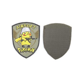 Шеврон KE Tactical Pokemon airsoft форма щит 10,5х8 см олива/желтый