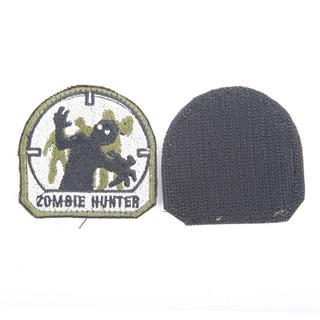 Шеврон KE Tactical Zombie Hunter 6х6 см олива/черный/белый