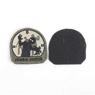 Шеврон Zombie Hunter 6х6 см черный/олива/бежевый