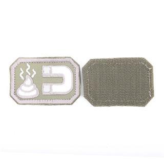 Шеврон KE Tactical Магнит прямоугольник 4х6 см олива/белый