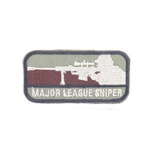 Шеврон KE Tactical Sniper прямоугольник 4,5х8,5 см олива/бежевый