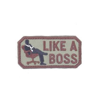 Шеврон KE Tactical Like a Boss прямоугольник 4х7,5 см олива/коричневый