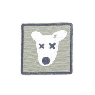 Шеврон KE Tactical Собака квадрат 6 см олива