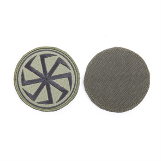 Шеврон KE Tactical Коловрат круглый 7 см олива/черный