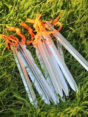 Колышки КМФ78 трехгранные 10 шт серебристые