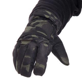 Перчатки Keotica мембрана на флисе multicam black