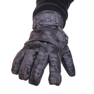 Перчатки Keotica мембрана на флисе питон черный
