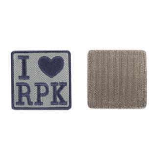 Шеврон KE Tactical I Love RPK квадрат 6 см олива/черный