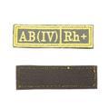 Шеврон KE Tactical Группа крови AB (IV) Rh+ прямоугольник 2,5х9,5 см олива/желтый - фото 10003