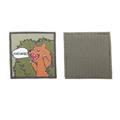 Шеврон Медведь - Маклауд квадрат 8,3х8,3 см олива/зеленый/коричневый - фото 10042