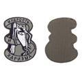 Шеврон KE Tactical Мудрость и Харизма 6,5х9 см олива/черный/серый - фото 10053