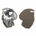 Шеврон KE Tactical Смерть с косой 8х10 см олива/черный/белый - фото 10135