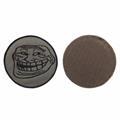 Шеврон Троллфейс круглый 8 см олива/черный - фото 10148