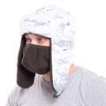 Шапка-ушанка Keotica Шугун мембрана мультикам белый маска белая - фото 12359