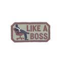 Шеврон KE Tactical Like a Boss прямоугольник 4х7,5 см олива/коричневый - фото 12972
