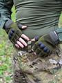 Перчатки КМФ78 тактические без пальцев олива - фото 13652