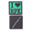 Шеврон I Love RPK квадрат 6 см зеленый/черный - фото 9939